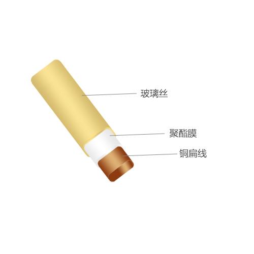 玻璃丝包聚酯膜包铜扁(圆)线